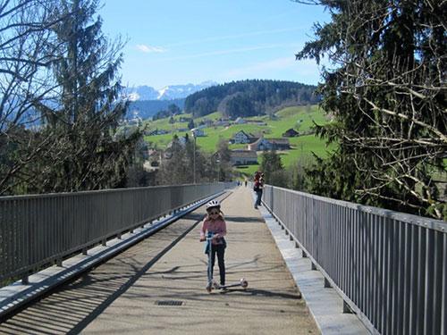 Switzerland, Haggen Bridge, St. Gallen